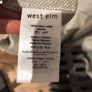 West Elm Cotton Canvas Opaque Heavy Curtain